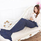 New super soft crochet + mermaid tail blanket adult sofa sleeping bag *