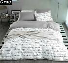 Letter Printing Bedding Sets Duvet Cover Set King Queen Size Bed Covers Sheets