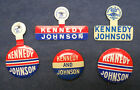 Vintage for President KENNEDY JOHNSON 1960 campaign buttons pinbacks pins