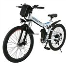 "26"" Wheels Folding Electric Mountain Bike Bicycle Ebike W/ Lithium Battery 250W"