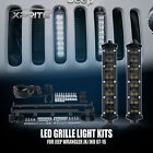 "8"" Vertical LED Lights Kits Fit Jeep Wrangler JK Grille Girll Lamps 07-17 WHITE"