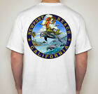 Kyпить Dolphin Surfing - Newport Beach T Shirt, Designed for us by Rick Rietveld на еВаy.соm
