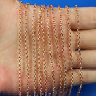 """High Quality 10pcs 18K Rose Gold Plated 2mm """"O"""" Rolo Chain Necklace 16"""" to 38"""""""