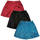 Men's Thai Silk Boxer Shorts 3 Pairs Red, Black, Turquoise Underwear M L XL 2XL