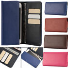 PU Leather Card Pouch Wallet Case Bag Cover For iPhone X 8 Plus 7 Galaxy s7 s6 5