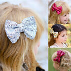 2018 Lovely Baby Girl Toddler Sequined Bow Head Wrap Hair Clip For Girls Gifts