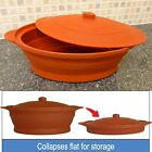 Multi-Use Collapsible Silicone silicon Oven Cooking Pot in Terracota 1.2 L #1223