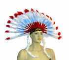 Indian Costume Headdress Indian War Bonnet Indian Headdress Indian Cheif  57571