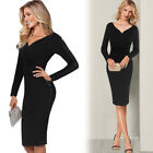 Womens Patchwork Elegant Work Office Casual Cocktail Party Wiggle Sheath Dress