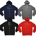 Men's POLO Ralph Lauren HOODIE FULL ZIP FLEECE Lining Pony Logo Sweatshirt S-2XL