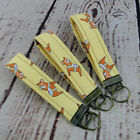 1 Key Fob Key Chain Wristlet Key Ring Dala Horse Dalahäst Orange Yellow Swedish