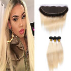 1B/613 ROOT BRAZILIAN VIRGIN OMBRE HAIR 3BUNDLES+FRONTALS SAME DAY SHIP 7A(390g)
