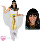 LADIES CLEOPATRA COSTUME PLUS WIG QUEEN OF THE NILE ADULT EGYPTIAN FANCY DRESS