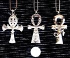 Chunky Large Ancient Egyptian Ankh Cross Protection Eye Pendant Necklace Jewelry