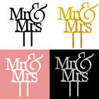 New Mr & Mrs Bride and Groom Wedding Party Love Acrylic Cake Topper Favor Decals