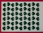 54 Shamrock Shaped Stickers, lots of colours, craft, decoration, spray tattoos