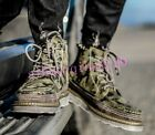 Fashion Men Desert Shoes Cowboy Boots Lace Up Camouflage Army Combat High Top sz
