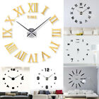 Modern DIY Large Wall Clock Kit Mirror Surface Sticker Home Office Room Decor C