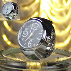 2PCS Women Men Dial Quartz Analog Finger Watch Creative Steel Ring Watch Lovers image