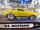 MUSCLE MACHINES YELLOW 1966 66 FORD MUSTANG GT 350 FUNLINE 2001 1 64 DIECAST CAR