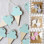 10Pcs/set Nordic Ice Cream Kids Room Wood Banner Wall Decor DIY Party Hanging