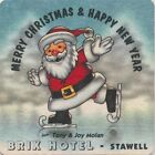 Coaster: Brix Hotel, Stawell. Merry Christmas & Happy New Year.