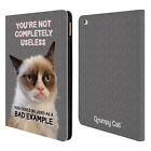 OFFICIAL GRUMPY CAT QUOTES LEATHER BOOK WALLET CASE COVER FOR APPLE iPAD