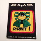 """C04 VTG PATCH 3"""" Embroidered Cloth R-RIVIT FROG unopened AA Sales Seattle WA"""