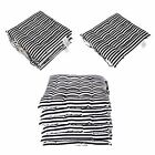 Seat Pads for Dining Chair Black and White Cotton Garden Cushion Stripe Tie Pads