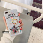 For iPhone X 8 Plus 7Plus Movie Garden Doll Charms Alice in Wonderland Soft Case
