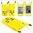 Cartoon Yellow Pokemon Pikachu Soft Silicone Case Cover For iPhone 6 7 8 X Plus