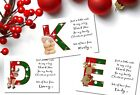 Any Letter Christmas Thank you cards x 10 (W208A - W208C)  Baby, Child