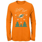 Miami Dolphins Outerstuff 17 Youth Holiday First Snowfall   - Orange
