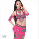 Professional Belly Dance Costumes Performance Outfits Egyptian Dancewear set 718
