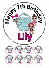 24 x Edible Personalised LOL Dolls Icing Party Stickers Cake Cupcake Topper
