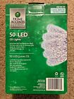 Home Accent Christmas 50 LED C6 String Lights Cool White - Green Wire NEW (4932)