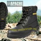 Apache AP300 Safety Work Boots Steel Toecap S3 Leather Black Mens