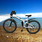 "26"" Folding Electric Mountain Bike Bicycle Ebike + W/ Lithium Battery 250W Best"