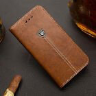 Luxury Flip Cover Stand Card Holder Wallet PU Leather Case For HTC Mobile Phones