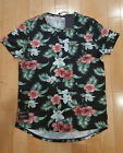 TWO ANGEL MONTALY B. HAWAIIAN FLORAL T SHIRT BLACK MENS SZ 2XL D16DMPA02 A