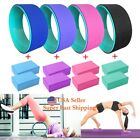 New TPE Yoga Wheel  with  2 PCS  Free Yoga Block