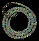 "50CRT 3-6 MM17"" NATURAL ETHIOPIAN  WELO FIRE OPAL RONDELLE BEADS NACKLACE 9063"