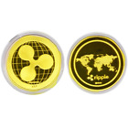 Ripple Coins Bitcoin! Litecoin! Ethereum Coins! Gold Plated w/Box Free Shipping