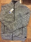 David Bitton Men's Faux Fur Lined Full Zip Knit Jaket Size L New with Tags