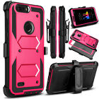 For ZTE Blade Z Max/ZMax Pro 2 Belt Clip Holster Case+Glass Screen Protector