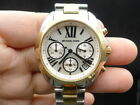 New Old Stock MICHEAL KORS Bradshaw MK5912 Chronograph 2 Tone Quartz Women Watch