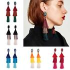 Crystal Rhinestones Long Tassel Statement Dangle Drop Earrings Jewelry ED 15