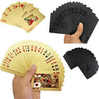 Stylish Waterproof Black Luxury 24K Gold Plated Poker Table Games Playing Cards