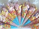 Pre Filled Childrens Kids Sweet Party Cones Bags  - Choice of Pack Size