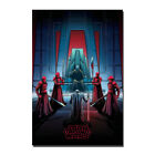 Star Wars The Last Jedi Throne Room Kylo Ren Silk Canvas Poster 13x20 24x36 in